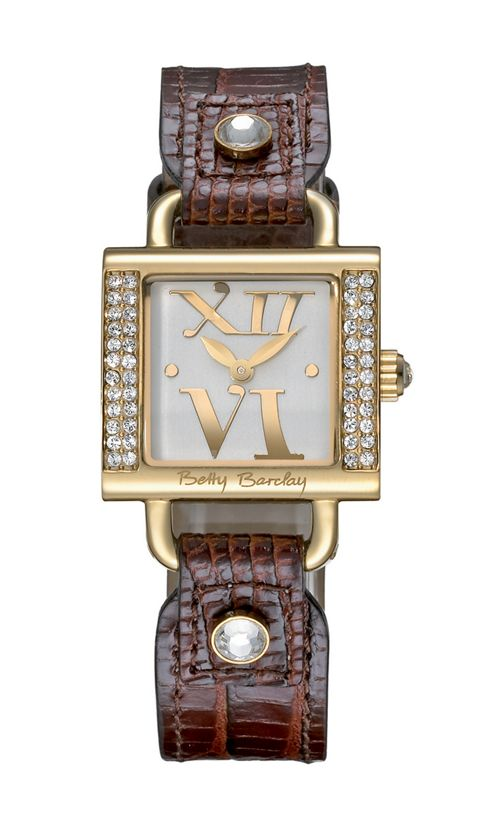 Betty Barclay With Love Ladies Leather Stone Set Watch BB058.20.305.060