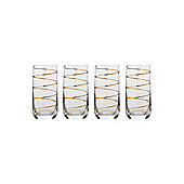 Pied A Terre Gold Spiral Hi Ball Set Of 4From