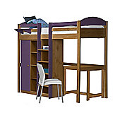 Maximus High Sleeper Set 2 Central Ladder Antique With Lilac Details