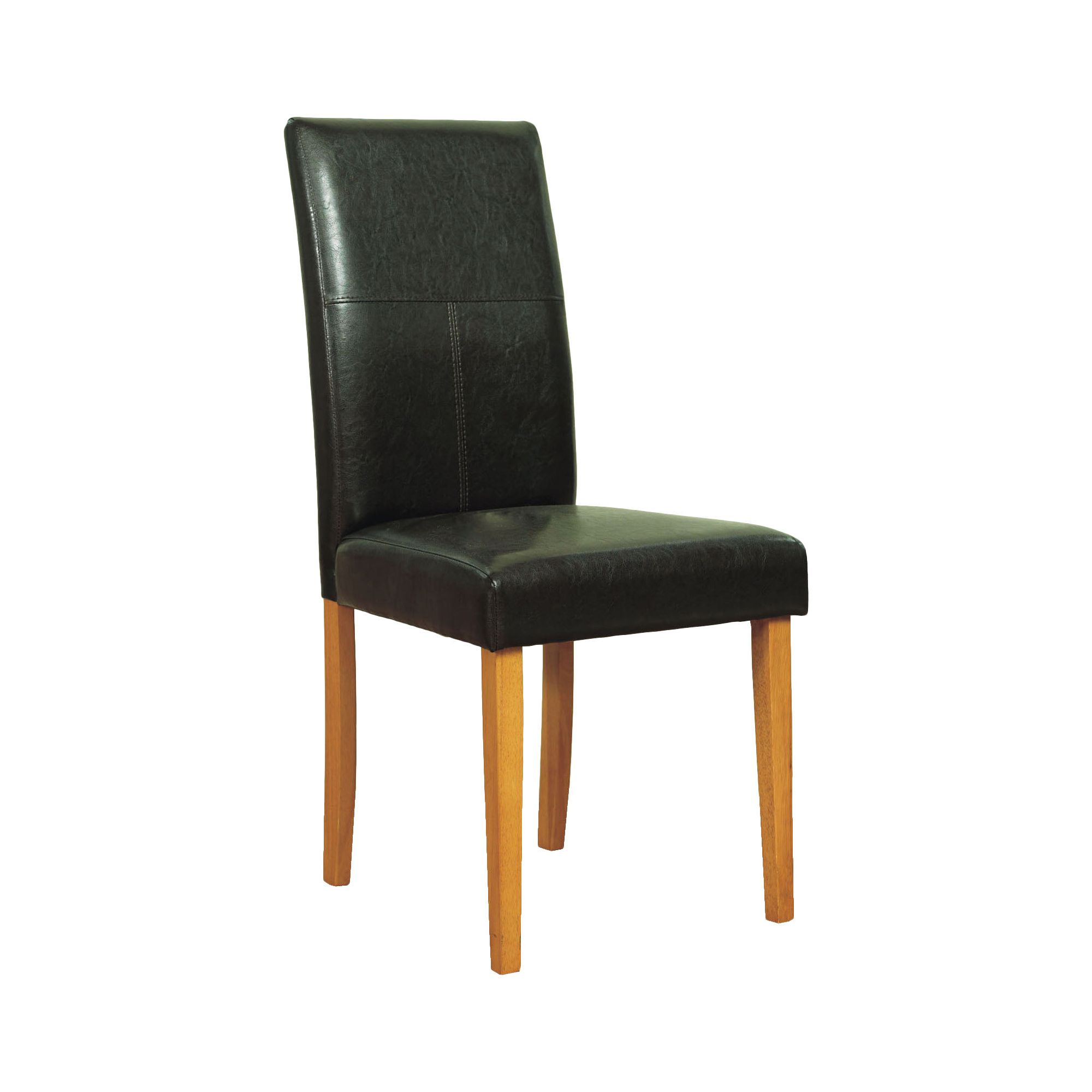 Furniture Link Adler Dining Chair with Oak Legs in Brown (Set of 2)