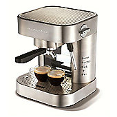 Morphy Richards Elipta Automatic Espresso Maker - Brushed Stainless Steel