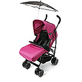 Your Baby - California Buggy/Pushchair-Pink-Incl Pink Footmuff & Black Parasol.