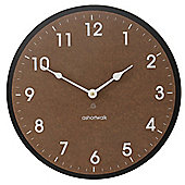 Large Round Brown Recycled Paper Eco-Friendly Outdoor Wall Clock