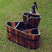 House Additions Corner 2 Tier Barrel Water Fountain