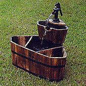 Techstyle Corner Two Tier Barrel Fountain