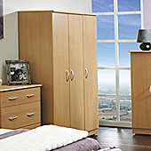 Welcome Furniture Avon Single Wardrobe - Beech