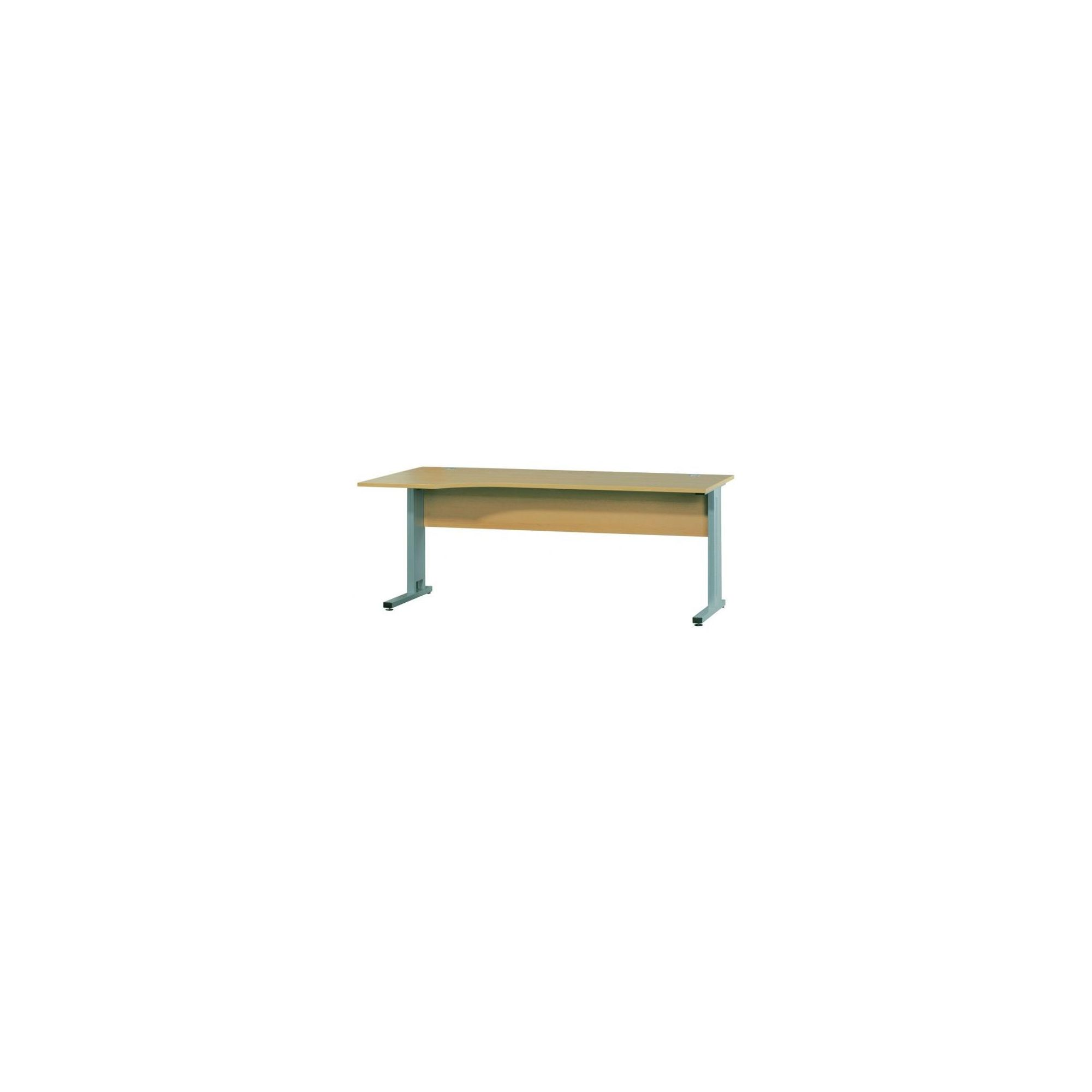 Bush Techno Speed L/H 1800mm Cantilever Framed Techno Speed Ergonomic Desk in Maple at Tesco Direct