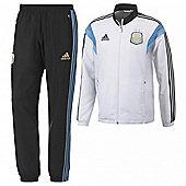2014-15 Argentina Adidas Presentation Tracksuit (White) - White