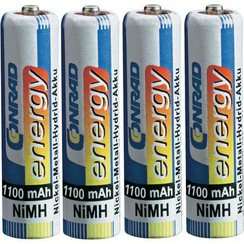 Conrad AAA NiMH 1100 mAh s Rechargeable Battery