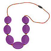 Jellystone Caru Teething Necklace in Purple Grape