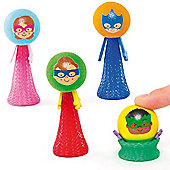 Star Hero Pop-Up Pals for Kid's Toys, Party Bags & Prizes (Pack of 4)