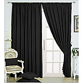 "Eclipse Blackout 3"" Tape Ready Made Curtains - Fully Lined - Black, Linen & Red - Black"
