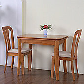 G&P Furniture Windsor House 3-Piece Newark Flip Top Dining Set with Slatted Back Chair - Maple