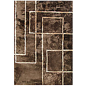 Bowron Sheepskin Shortwool Design Corners Rug - 300cm H x 200cm W x 1cm D