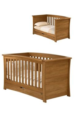 Mamas & Papas - Ocean Cot/Day Bed - Dark Oak