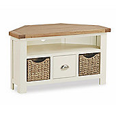 Daymer Painted Corner TV Stand