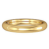 18ct Yellow Gold - 3mm Premium Court-Shaped Band Commitment / Wedding Ring -