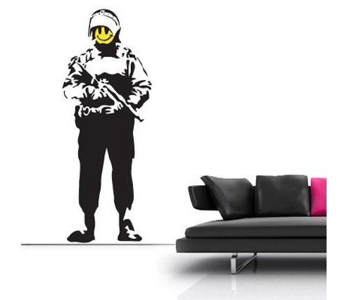 Banksy Acid Soldier Wall Sticker, Large