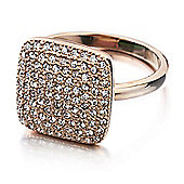 Shimla Ladies Rose Gold Square Ring - SH-233SM
