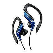 JVC Ear-hook Sports Headphones with Adjustable Clip - Blue