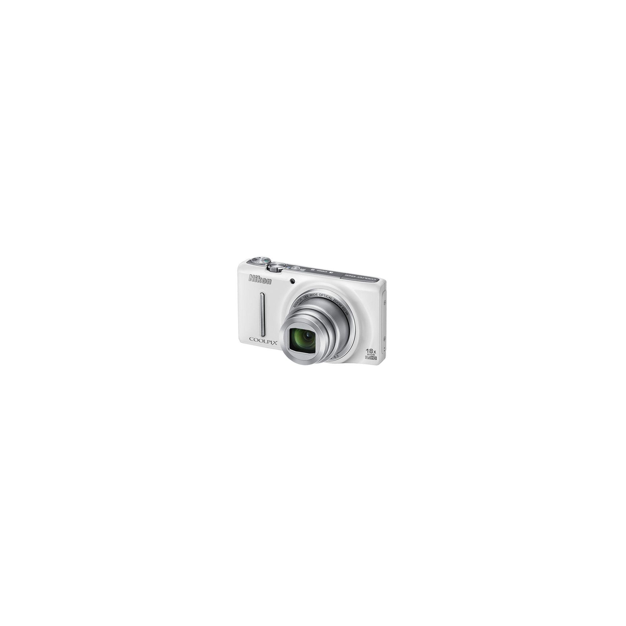Nikon Coolpix S9400 Digital Camera, White, 18MP, 18x Zoom, 3.0 inch LCD screen