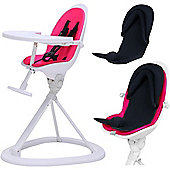 ickle bubba Orb+ Highchair (White/Pink)