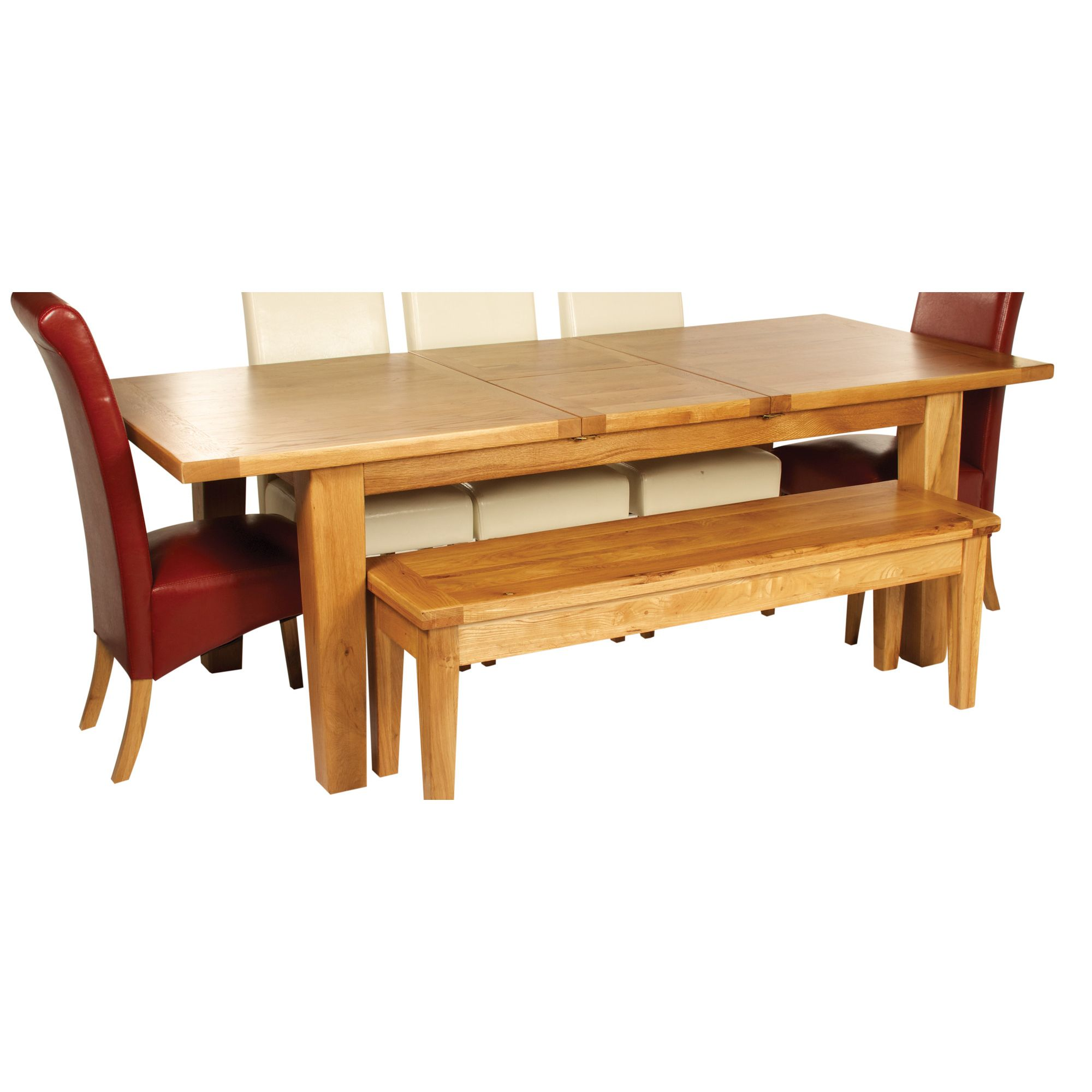 Hawkshead Calgary 180cm Extension Solid Oak Dining Table