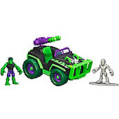 Playskool Heroes Marvel Super Hero Adventures - Mud Stormin' 4x4 with Hulk and Silver Surfer