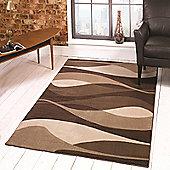 Sincerity Modern Contour Brown 120x170 cm Rug