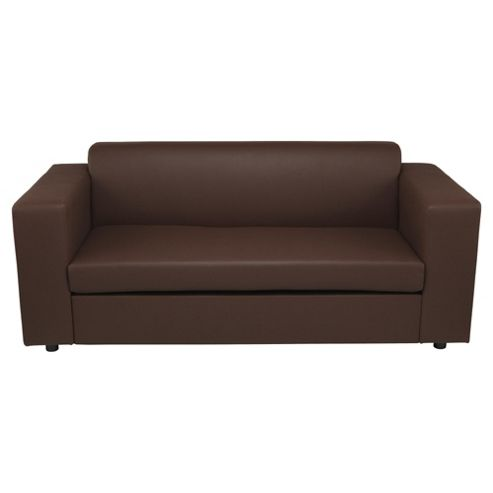 Stanza Leather Effect Sofa Bed Chocolate
