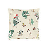 Dickins & Jones Herb Print Cushion - Cream