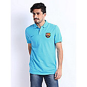 2013-14 Barcelona Nike Authentic Polo Shirt (Aqua) - Blue