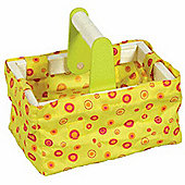 Bigjigs Wooden Toys Yellow Shopping Basket
