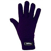 Thinsulate Womens Knitted Gloves - Purple