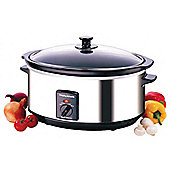 Morphy Richards 48715 Oval Slow Cooker Stainless Steel 6.5L