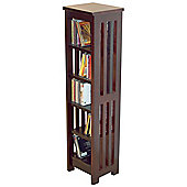 Solid Wood CD / Media Storage Shelves - Dark