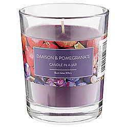 Tesco Damson & Pomegranate Candle in a Jar