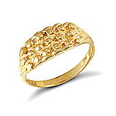 Jewelco London 9ct Solid gold 3-row keeper design baby Ring