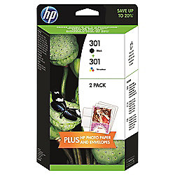 HP 301 2-pack Black/Tri-colour Original Ink Cartridges