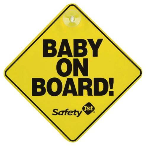 Safety 1st Baby On Board Car Sign