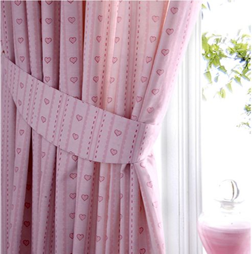 buy baby pink love heart bedroom curtains 72s from our