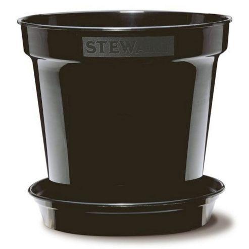 buy stewart garden premium flower pot 18cm black. Black Bedroom Furniture Sets. Home Design Ideas
