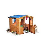 Mad Dash Blueberry Fabric Roof Wooden Playhouse 4 x 4