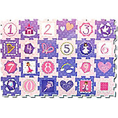 Princess Number Puzzle Mat 93 x 62 cm