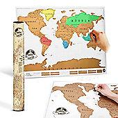 Twitfish World Atlas Scratch Map - Colour Edition