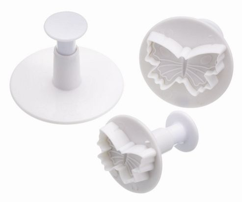 Set of Three Butterfly Fondant Plunger Cutters