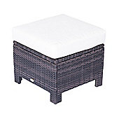 Outsunny Rattan Ottoman Indoor & Outdoor in Mixed Brown
