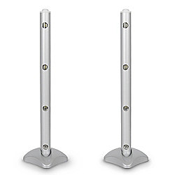 Pair of Battery Operated Magnetic LED Wall / Table Lamps in Metallic Silver