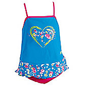 Zoggs Girl's 'Clarity' Swimdress - Blue - Blue