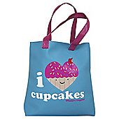 David & Goliath I Heart Cupcakes Tote Bag